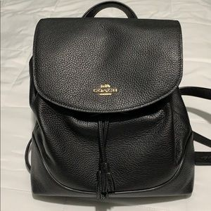Leather coach Elle backpack